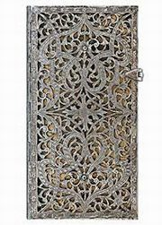 ksiazka tytuł: Paperblanks Notes Slim Natural   Lined 1934-3 208k 90x180mm autor: Silver Filigree Collection