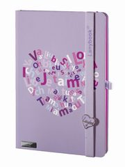Notes A5 Lanybook Lovestruck fioletowy,
