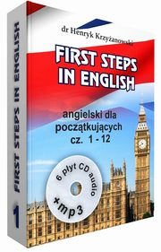 First Steps in English 1+ 6 CD+MP3, Krzyżanowski Henryk