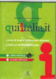 Qui Italia it livello intermedio B2 Podręcznik+DVD+CD MP3, Marasco Maria Valentina, Santeusanio Nicoletta
